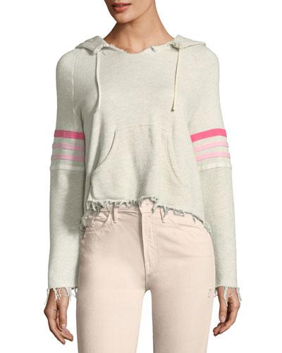 Square-Tear Hooded Sweatshirt
