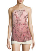 No Regrets Floral-Print Silk Camisole