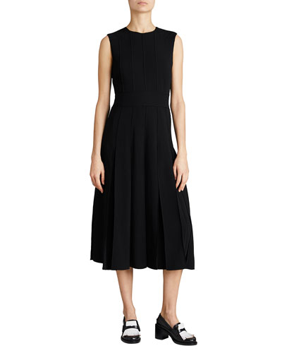 Black box pleated dress