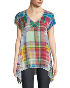 Linko Babydoll Plaid Tunic