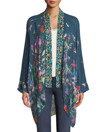 Summer Paisley Kimono, Plus Size