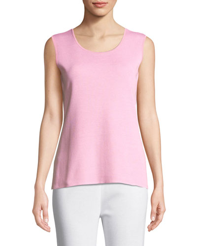 Scoop-Neck Melange Tank