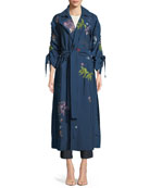 Aziza Floral-Embroidered Jacket