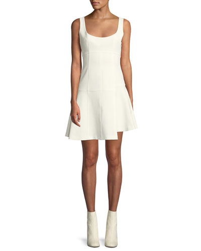 Annette Scoop-Neck Sleeveless Fit-and-Flare Mini Dress