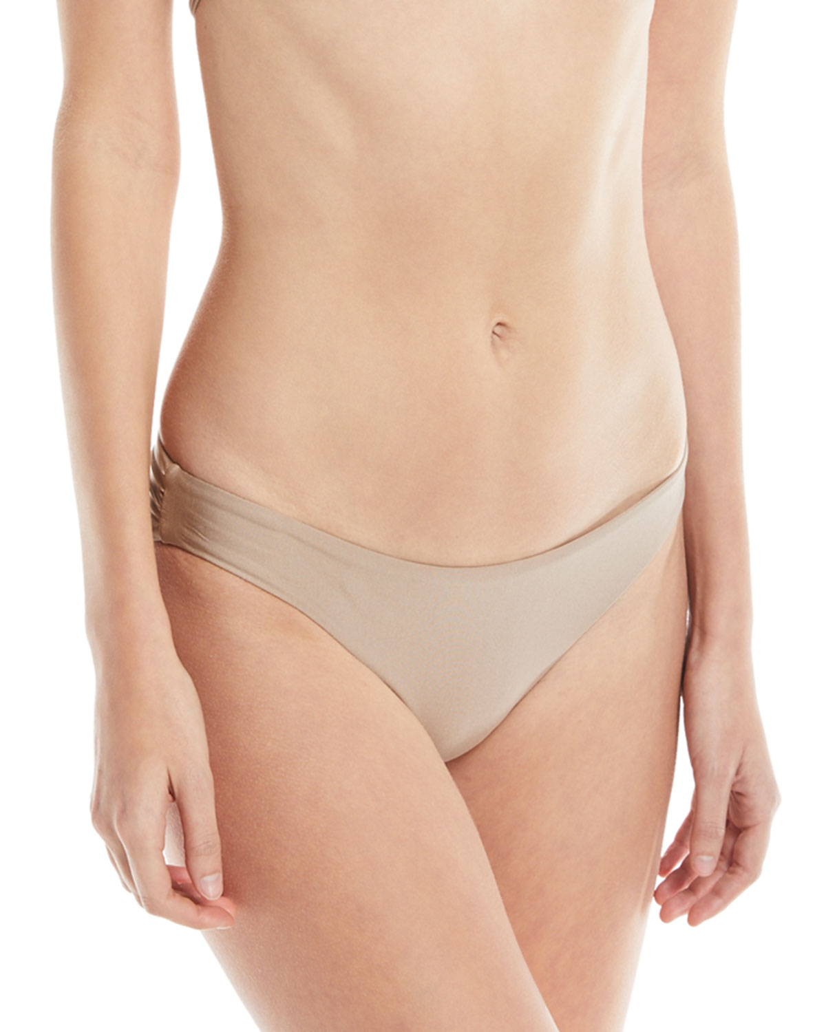Solid Ruched Swim Bottom Sand