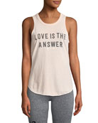 Love Is The Answer Draped-Back Studio Tank