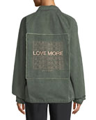 Love More Denim Army Jacket