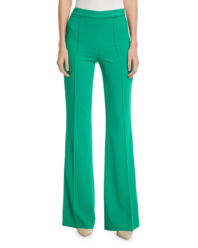 Jalisa High-Waist Fitted Flared Pants