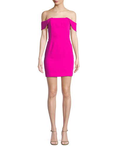 Whitney Cutout-Back Mini Cocktail Dress