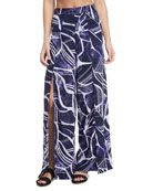 Bali Hai Slit-Front Wide-Leg Coverup Pants