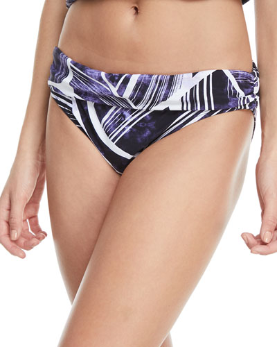 BALI SHIRRED BAND HIPSTER SWIM BIKINI BOTTOMS