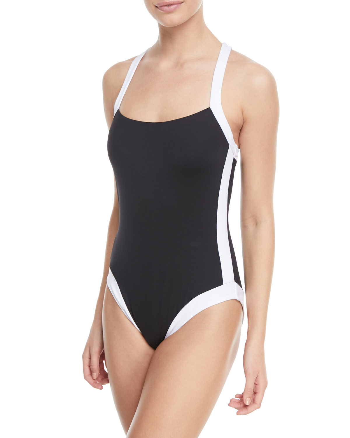 Modern Underwire X-Back One-Piece Swimsuit