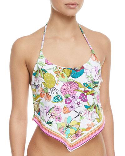 Key West Botanical-Print Tankini Swim Top