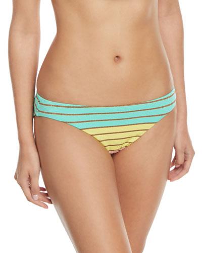 Lurex® Stripe Hipster Swim Bottoms