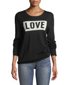 Gwendal Love Crewneck Long-Sleeve Sweater