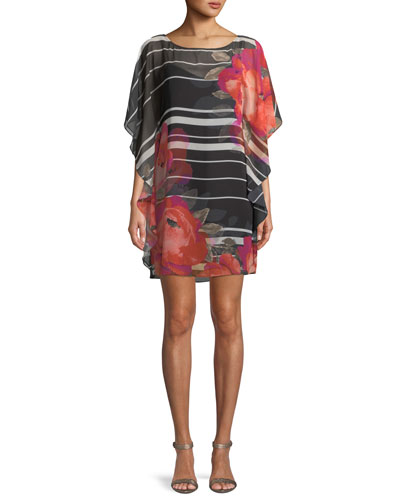Anissa Horizon Bloom Chiffon Kaftan Dress