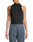 Cellia Mock-Neck Halter Top