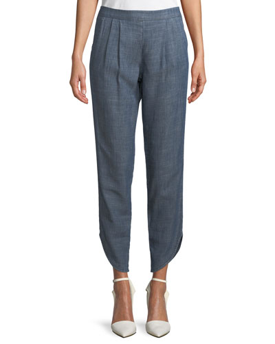 Fulton Pull-On Pleated Pants