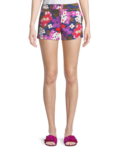 Corbin Greenhouse Floral-Print Shorts