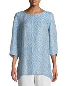 Ride the Wave Easy Linen/Cotton Tunic, Plus Size