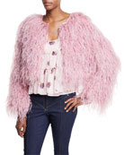 Lennox Cropped Feather Jacket