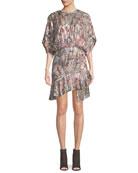 Wobam High-Neck Short Dress