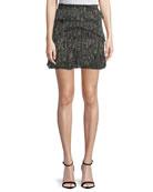 Gerill Printed Mini Skirt with Ruffled Trim