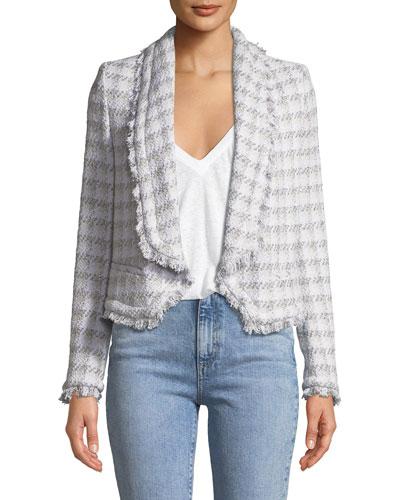 Quill Open-Front Tweed Jacket