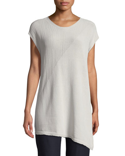 Short-Sleeve Asymmetric Tunic