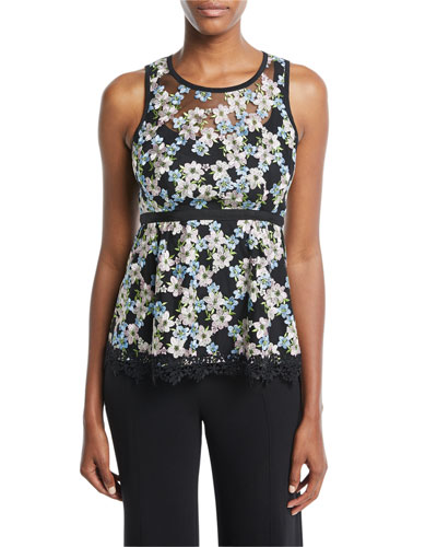 Midsummer Floral Sleeveless Top