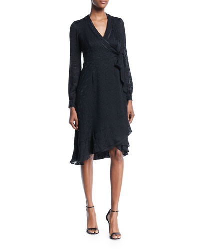 Romeo Long-Sleeve Wrap Dress
