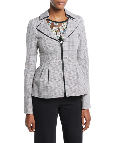Star Crossed Zip Peplum Jacket