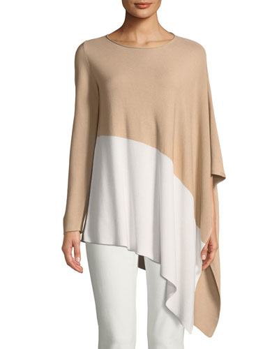 Bateau-Neck Asymmetric-Hem Knit Top