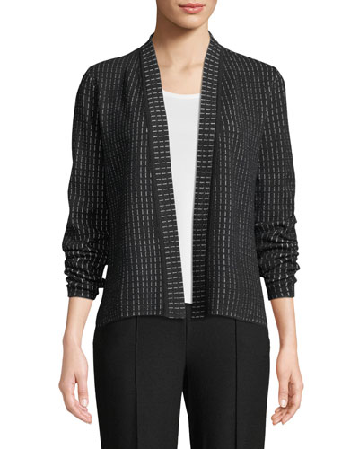 Silk and Organic Cotton Simple Shaped Cardigan