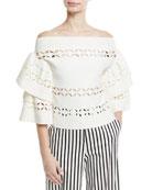 Off-the-Shoulder Cutout Knit Top