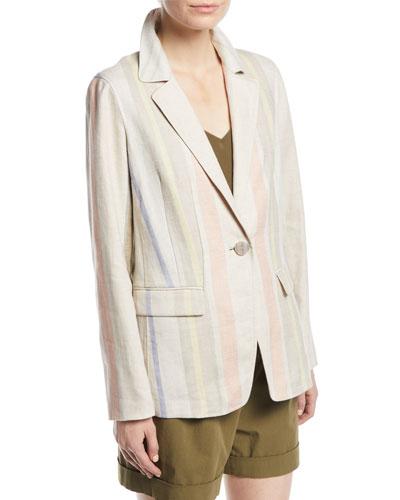 cb93e7591b Linen Silhouette Jacket