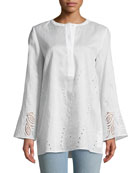 Haisley Gemma Cloth Blouse with Eyelet Trim