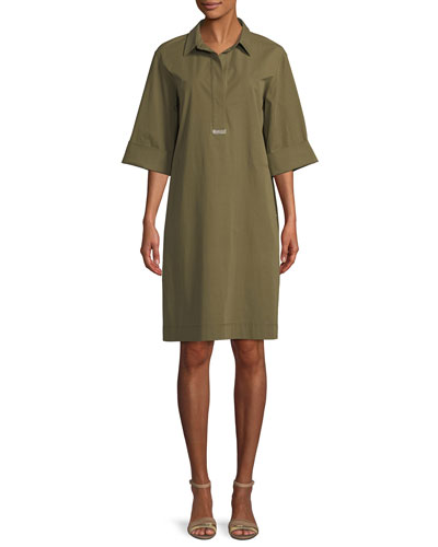 Cara Italian Pima Stretch Shirt Dress