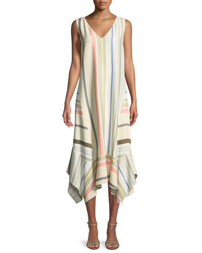 Isla Mesa Stripe V-Neck Dress