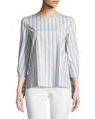 Elaina Multi-Stripe Blouse