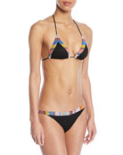 Two-Piece Swim Set w/ Embroidered Trim
