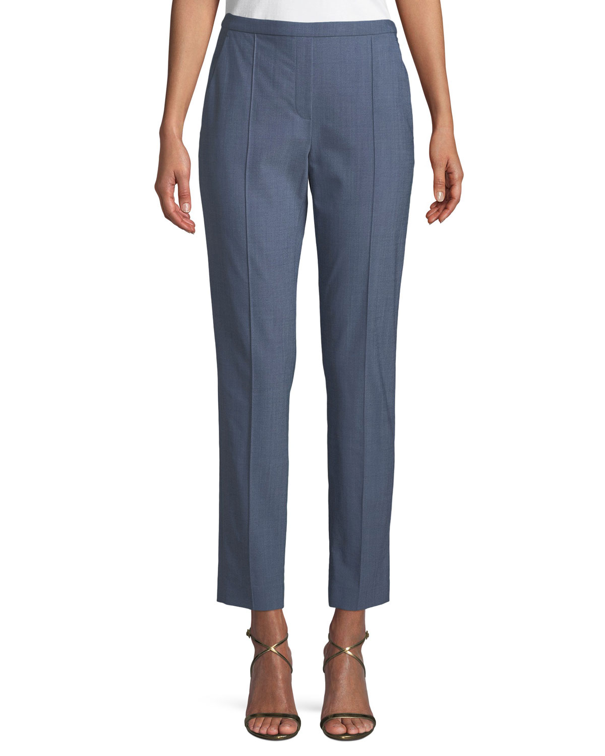Karis Front-Seam Ankle Pants