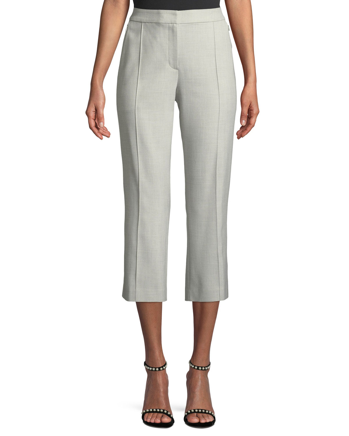 Lisa Cropped Stretch-Crepe Pants