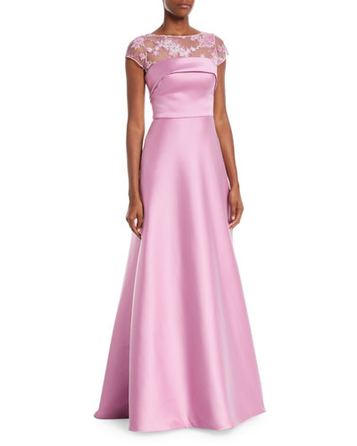 Super Stretch Threadwork Ball Gown