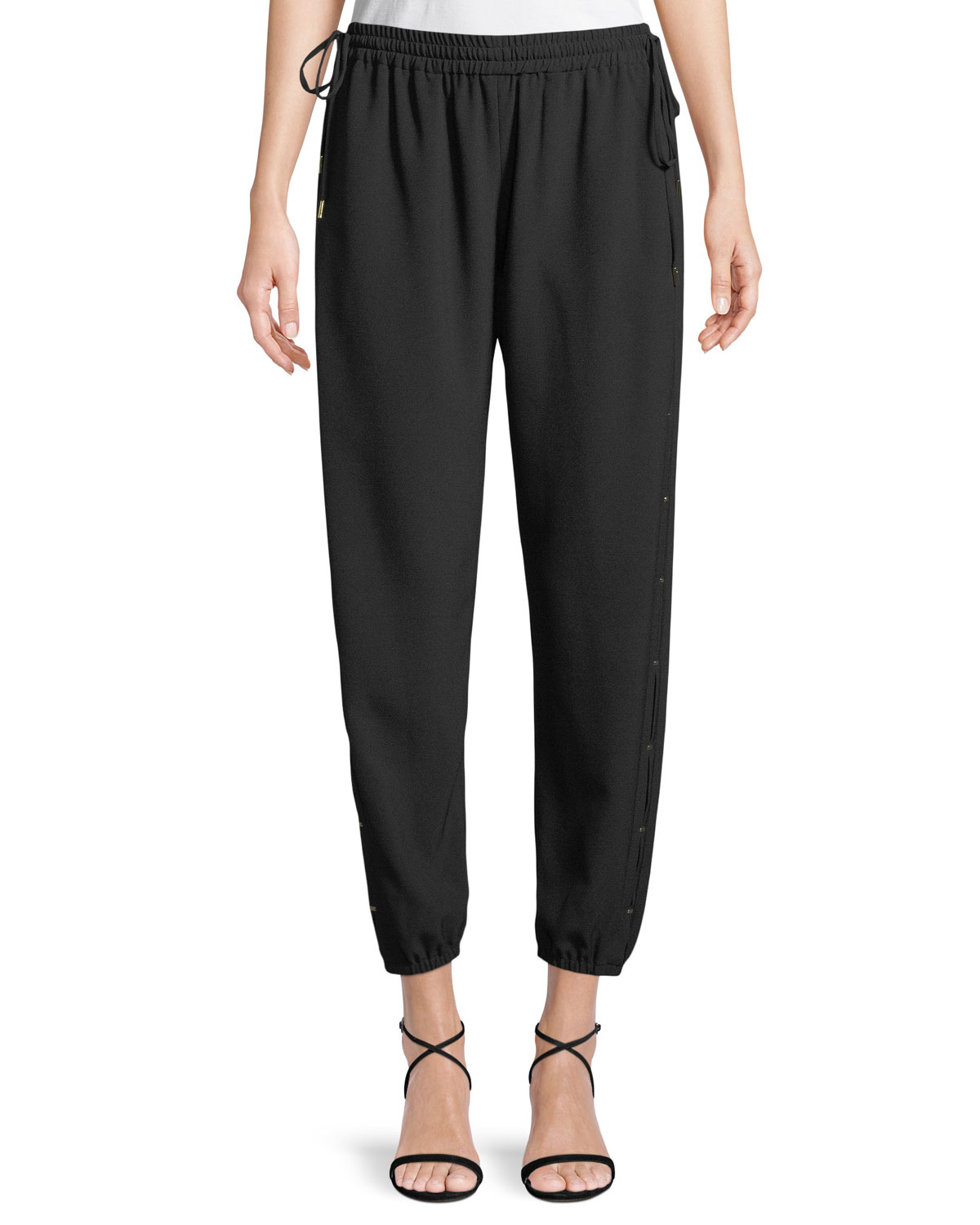 Heather Drawstring Jogger Pants