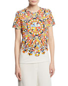 Keaton Psychedelic-Geometric Logo T-Shirt