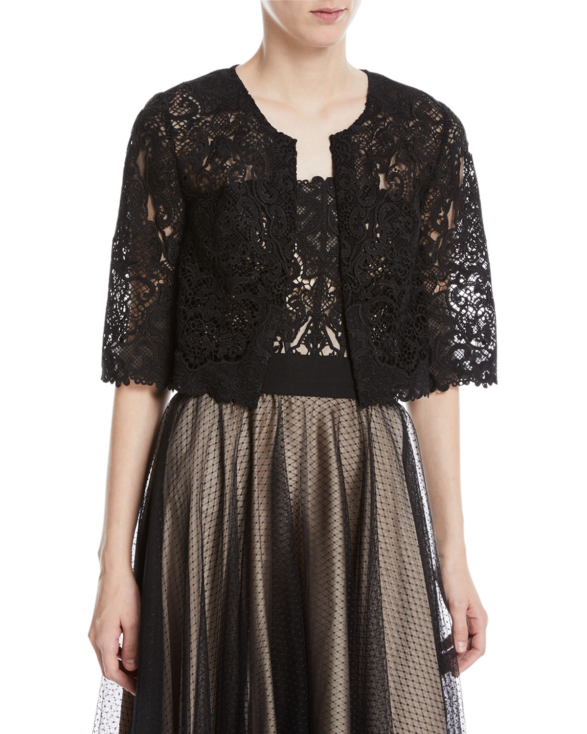 Kalista Graphic Lace Topper Jacket