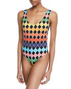 Artsi Scoop-Neck One-Piece Swimsuit