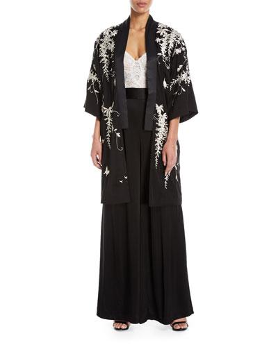 Kimiro Luxe Wisteria Kimono Jacket