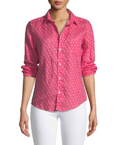 Barry Button-Front Slim Linen Shirt
